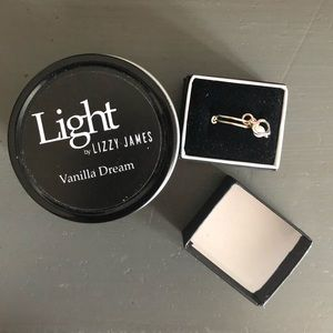 Lizzy James candle & ring set